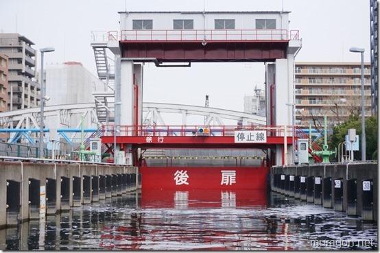 ミニパナマ運河こと扇橋閘門