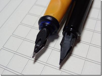 ペリカーノjrとサファリのペン先
