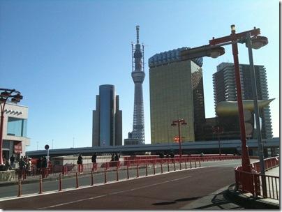 吾妻橋から東京スカイツリー