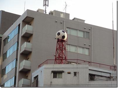 サッカーボールの貯水タンク