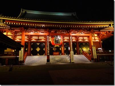浅草寺本堂ライトアップ