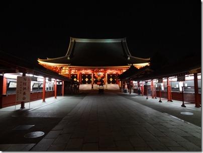浅草寺ライトアップ