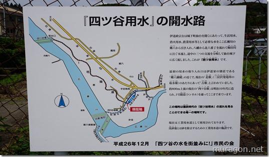 「四ツ谷用水」の開水路