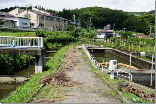 宮城県工業用水路沈砂池