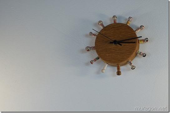 準喫茶カガモクこけし時計