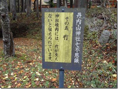 その五、神社境内には竹が生えない。