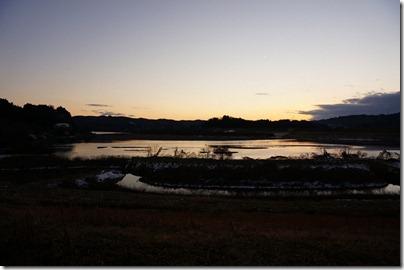 SCNモード夕焼けで撮影