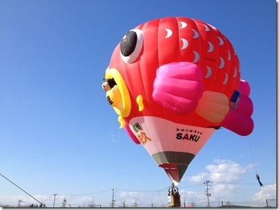 熱気球 佐久の鯉太郎