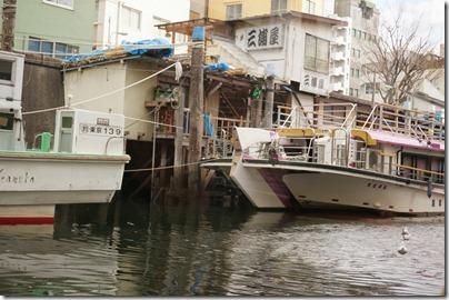 屋形船と舟宿