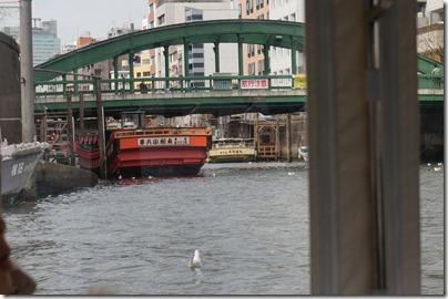 隅田川から見る柳橋