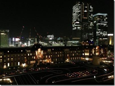 新丸ビルから東京駅夜景
