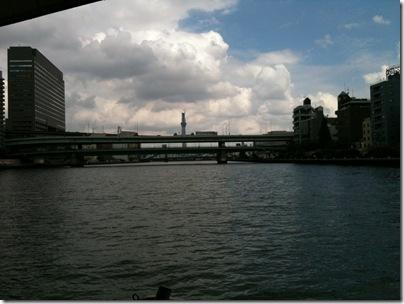 水上バスから見るスカイツリー