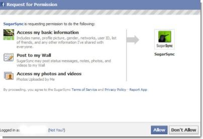 facebookに接続